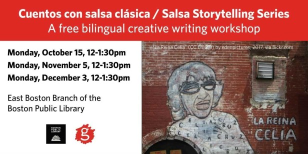 SalsaStorytellingSeriesOctober15CreativeWritingWorkShop